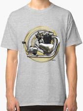 TRIUMPH T6 Thunderbird motore del motociclo vintage con T-shirt inished produzione