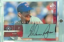 2003 SP AUTHENTIC CHIROGRAPHY HALL OF FAMERS #NR NOLAN RYAN 011/170