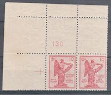 REGNO-1921-Coppia ADF 10 cent Vittoria (120d/120)Filigrana intera al retro-MHN