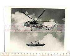 Stampa ORIGINALE FOTO: 1959 Flying Crane westan Westminster Helicopter Bridge sect