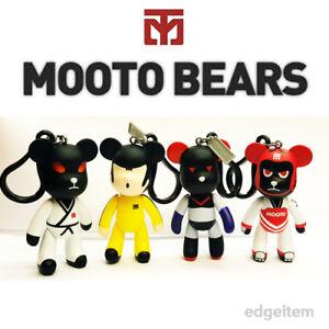 MOOTO Bears Keyring Action Figure Key Chain Martial Arts Accessory Key Holder