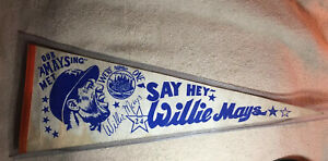 1973 Say Hey Willie Mays New York Mets No. 24 Pennant Full Size