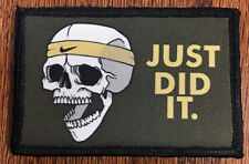 Nike Just DID It Morale Patch Military Tactical Badge USA Flag Hook Skull