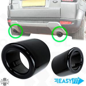 2 Exhaust tips upgrade Gloss Black for Range Rover Evoque Pure/Prestige tailpipe