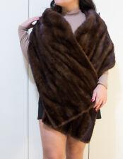 scialle pelliccia di vero visone 200x40cm  vintage come nuova