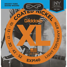 D'Addario EXP140 Coated Nickel Wound, 10-52 Guitar Strings +Picks