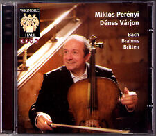 Miklos PERENYI: BACH Solo Cello suite No.3 BRITTEN Sonata BRAHMS No.2 CD Wigmore