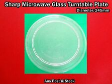 Sharp Microwave Oven Spare Parts Glass Turntable Plate Platter 245mm (W9) New