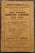 1920 WISDEN CRICKETERS ALMANACK ORIGINAL PAPER WRAPPERS - GOOD CONDITION