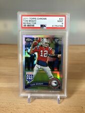 2011 Topps Chrome Tom Brady Refractor Card #20 PSA 9 Mint