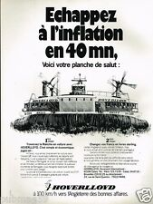 Publicité advertising 1977 Bateau  Hovercraft Hoverlloyd