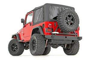 Rough Country for Jeep Classic Rear Bumper w/Tire Carrier 87-06 Wrangler YJ/TJ