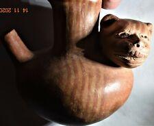 "New listing Sale! Pre Columbian Mayan Chocolate Bowl, Jaquar, 7"" Prov"