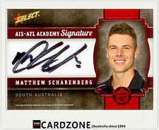 2013 Select AFL Future Force Black Signature Cards FFRS24 M. Scharenberg (Coll.)