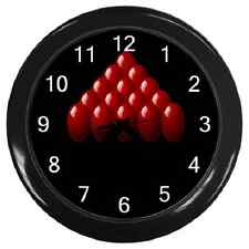 SNOOKER TRIANGLE WALL CLOCK **SUPERB GIFT ITEM**