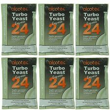 Alcotec 24 Hour Turbo Distillers Yeast (Pack of 6) - Lowest Cost per Pkg on Ebay