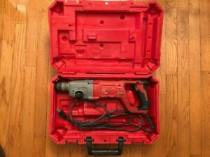 MILWAUKEE 5262-21 8 Amp Corded D-Handle Rotary Hammer 1 inch SDS Plus with Case
