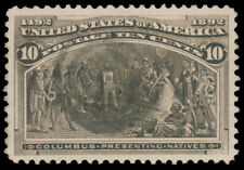 1893 10c COLUMBIAN USED GRADED '90J', target cancel extremely jumbo with 2021 PS