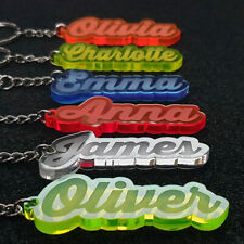 Personalised FROZEN KEYRING KEYCHAIN GIFT ANY NAME SCHOOL BAG  WORD TAG WOW