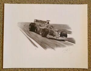 Signed by Michael D Savage Print - Michael Schumacher Formula 1