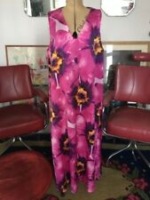 1960s Style M & S Pink Purple Floral Maxi Evening Cockail Party Dress 16
