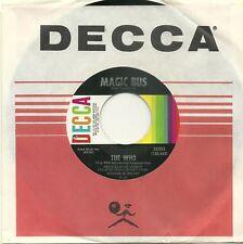 The WHO, MAGIC BUS b/w SOMEONE'S COMING, 1968 ORIGINAL 45rpm RECORD, MINT-!