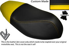 YELLOW & BLACK CUSTOM FITS APRILIA SPORTCITY 50 2T 08-12 DUAL LEATHER SEAT COVER