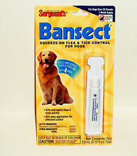 Sergeant's Bansect Squeeze On Flea & Tick Control For Dogs Over 33lbs NIP