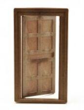 DOLLS HOUSE WOODGRAIN DOOR BROWN PLASTIC 1/16 SCALE DOLLSHOUSE DOOR