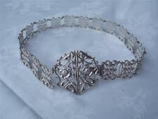 Rare Edwardian HM Silver Nurses Belt - Collins & Cook Birmingham 1902 + buckle