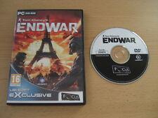 Tom Clancy's ENDWAR Pc DVD Rom FO END WAR  - FAST DISPATCH
