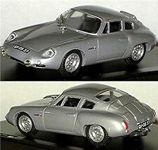 Porsche Abarth 695 GS 1960 silver metallic 1:43 Exem Resin