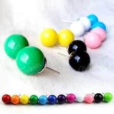 Bubble Gum Ball Candy Style Pearl Stud Earrings. Cute 80's Retro Colour Pop Gift