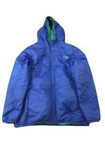 The North Face Girls Blue Reversible Full Zip Insulated Jacket Sz XL (18)