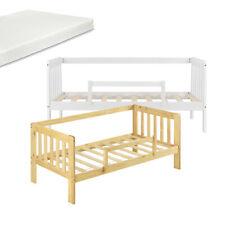 [en.casa] Kinderbett Matratze Juniorbett mit Rausfallschutz Stauraum Bett Kiefer