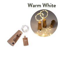 5x 20 LED Weinflasche Kork String Light Nacht Lichterkette Party Flaschenlicht