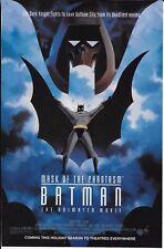 Vintage 1994 Batman PRINT AD Animated movie Mask Phantasm promo & RoboCop 3 game