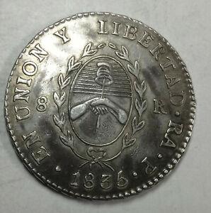 1835 Argentina Provincias Rio De Plata 8 Reales high grade with nice patina