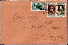 """1936 - Lettera per Albonese - Affrancatura multipla """"Stampa Cattolica"""""""