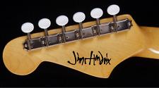 Jimi Hendrix Signature Autograph - Vinyl Decal sticker for Guitar
