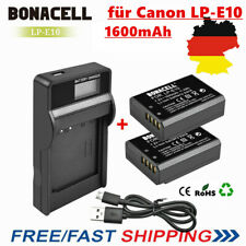 2 x 1600mAh Akku + LCD Ladegerät für Canon EOS LP-E10 1300D 1200D 1100D 2000D DE
