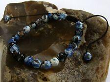 Men's GEMSTONE beaded bracelet all 8mm FIRE CRACKLE AGATE beads