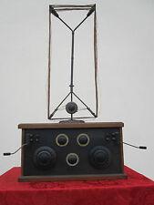 RADIO 1920's Röhre ANTENNE 3x A 409 1x B 405 Detektor empfänger klein BATTERIE