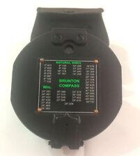 100% Working Brass Brunton Antique Pocket Transit Compass With Letaher Case