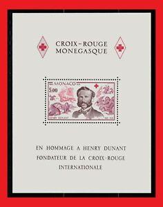 ZAYIX - 1978 Monaco 1137 MNH souvenir sheet - Red Cross / Dunant & Battle Scene