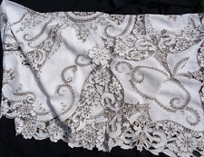 B'FUL VTG MADEIRA ELABORATELY EMBROIDERED & CUTWORK FLORAL TABLECLOTH 120 X 60