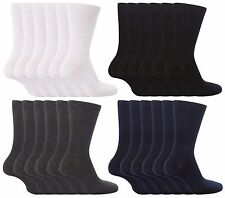 Boys Girls Unisex Soft Thin Cotton Rich Plain School Socks, Black Grey or White