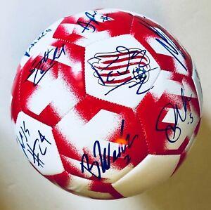 New England Revolution  2018 Team Signed Soccer Ball w/COA MLS Futbol Size 5