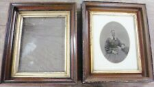 Pair of Civil War Era Antique Walnut Picture Frames large TINTYPE