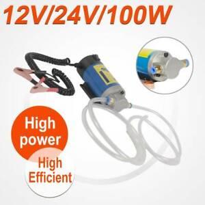 100W 12V Electric Diesel Pump Oil Transfer Extractor Fluid Siphon Car Motorbike